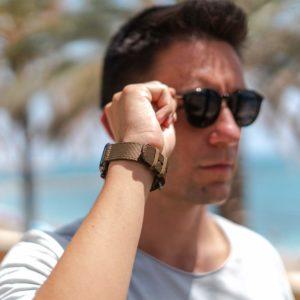 Apple-watch-bronze-tide-band-recycled-ocean-plastic-handling-the-eyewear