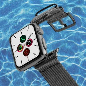 Apple-watch-grey-tide-band-recicled-ocean-plastic-40mm-flying