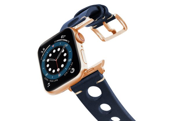 Blue-AW-urban-leather-band-on-air-alluminium-rose-gold-adapters
