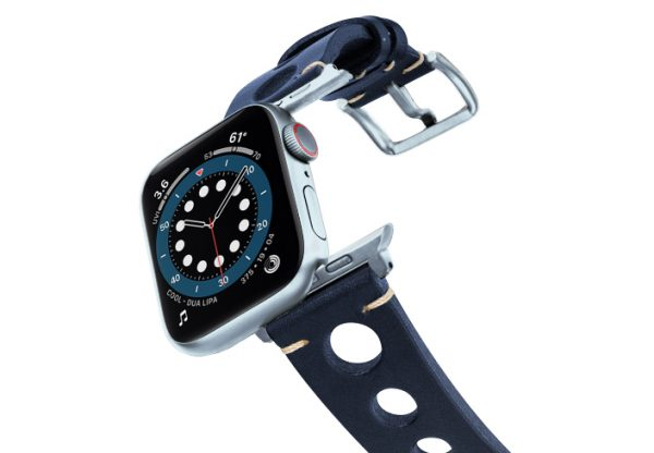 Blue-AW-urban-leather-band-on-air-alluminium-silver-adapters