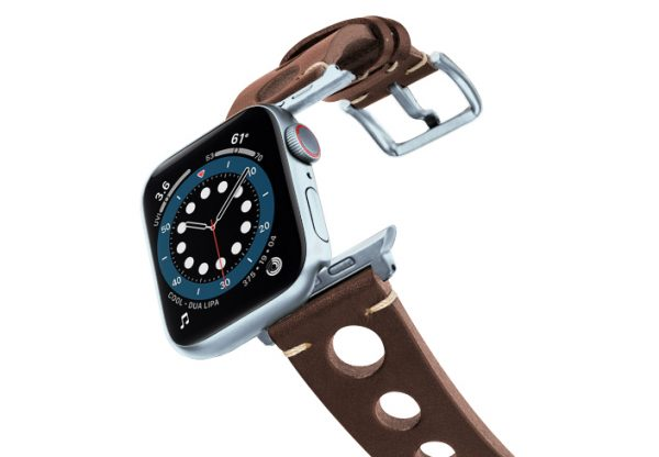 Dark-Brown-AW-urban-leather-band-on-air-alluminium-silver-adapters