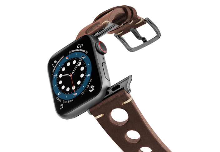 Dark-Brown-AW-urban-leather-band-on-air-space-grey
