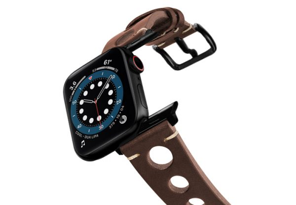 Dark-Brown-AW-urban-leather-band-on-air-stainless-black-adapters