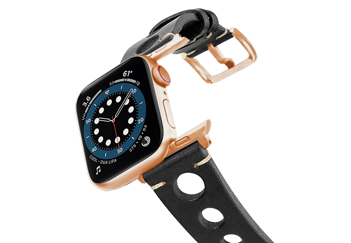 Black-AW-urban-leather-band-on-air-alluminium-rose-gold-adapters