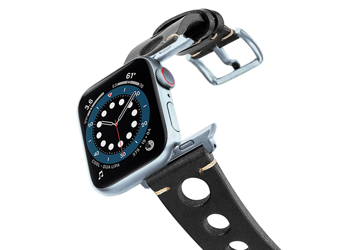Black-AW-urban-leather-band-on-air-alluminium-silver-adapters