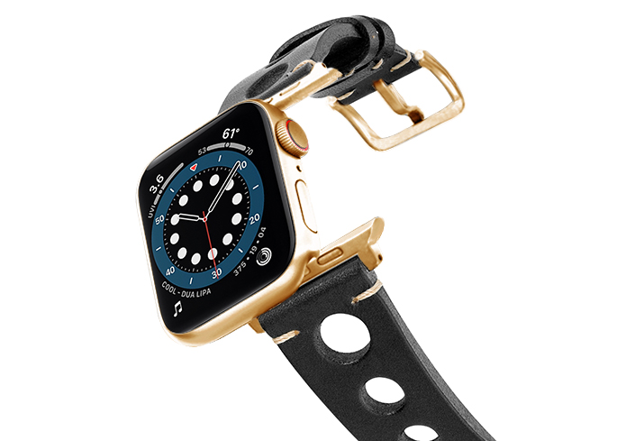 Black-AW-urban-leather-band-on-air-stainless-gold-adapters