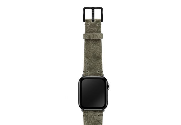 AW-green-ancient-leather-band-on-top-stainless-black-adapters