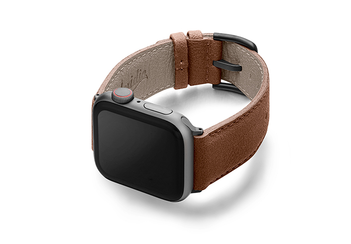 Anurka-Apple-watch-vegan-leather-band-left-view