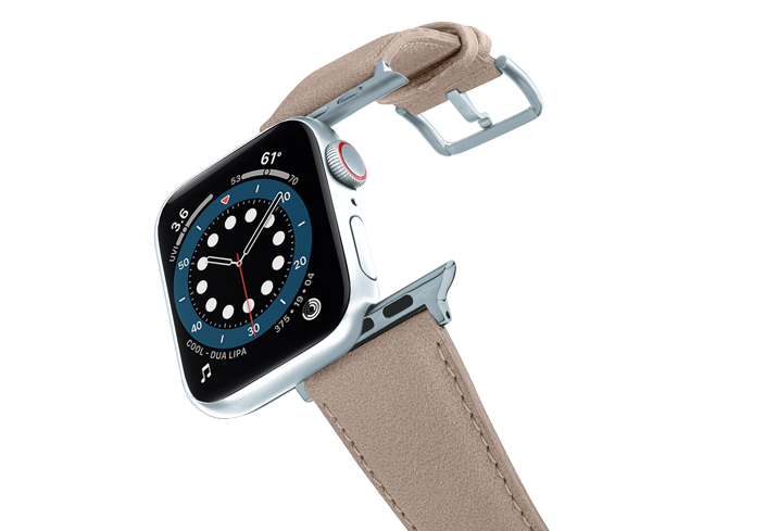 Bisque-Apple-watch-vegan-leather-band-flying-view_alluminium_silver_case