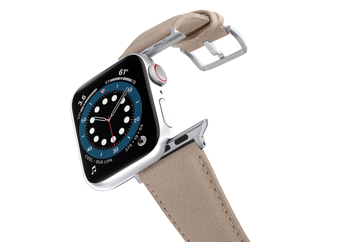 Bisque-Apple-watch-vegan-leather-band-flying-view_stainless_steel_case