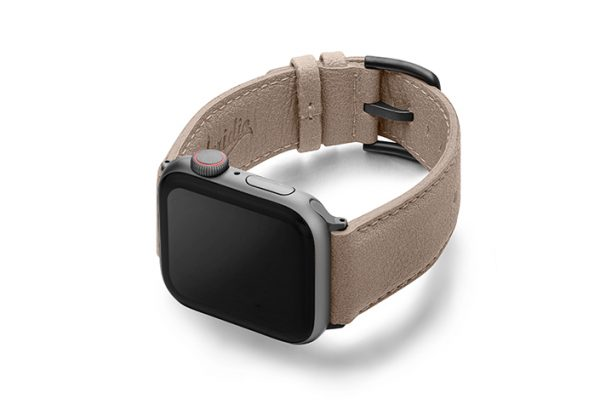 Bisque-Apple-watch-vegan-leather-band-left-view