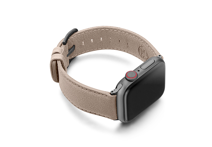 Bisque-Apple-watch-vegan-leather-band-right-view