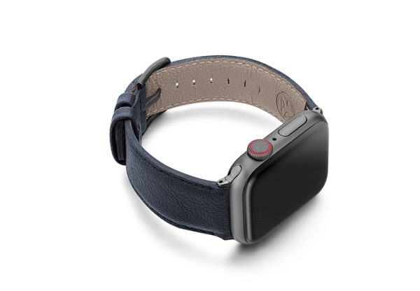 Blue-Cider-Apple-watch-vegan-leather-band-right-view