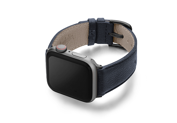 Blue-Cider_Apple-watch-vegan-leather-band-left-view