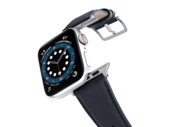 Blue_cider_-Apple-watch-vegan-leather-band-flying-view_stainless_steel_case
