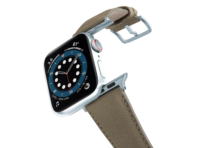 Strudel-Apple-watch-vegan-leather-band-flying-view_alluminium_silver_case