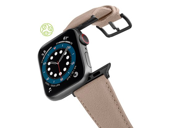 Bisque-Apple-watch-vegan-leather-band-flying-view_Space_grey_case-Bisque-Apple-watch-vegan-leather-band-flying-view_Space_grey_case